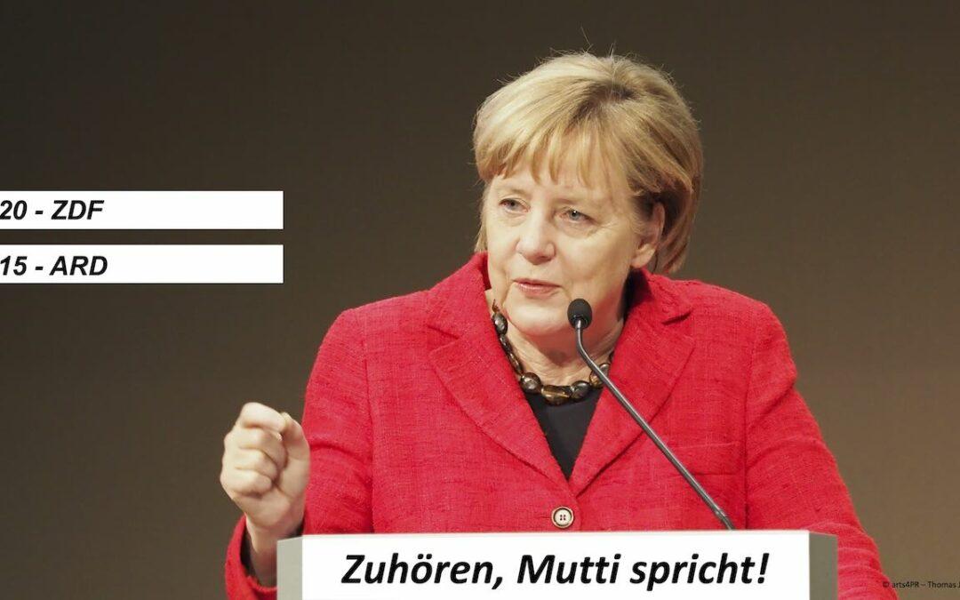 Heute: Ansprache der Bundeskanzlerin Dr. Merkel
