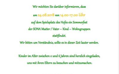 24. Aug. 2018 – Hoffest der SONA am Spittelmarkt